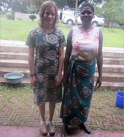 Chitenje-Stoffe als typisch malawische Kleidung